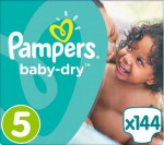 Pampers Baby Dry Gr. 5, Junior (12-25 Kg), 144 Windeln – Bild 1